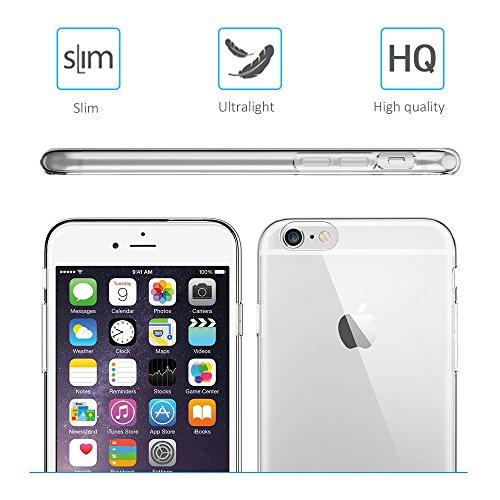 iPhone 6S 6 Hülle, FayTun iPhone 6 6S Schutzhülle Case Silikon- Crystal Clear Ultra Dünn Durchsichtige Backcover Handyhülle TPU Case für iPhone 6/6S (Transparent) - 3