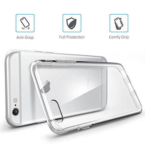 iPhone 6S 6 Hülle, FayTun iPhone 6 6S Schutzhülle Case Silikon- Crystal Clear Ultra Dünn Durchsichtige Backcover Handyhülle TPU Case für iPhone 6/6S (Transparent) - 4