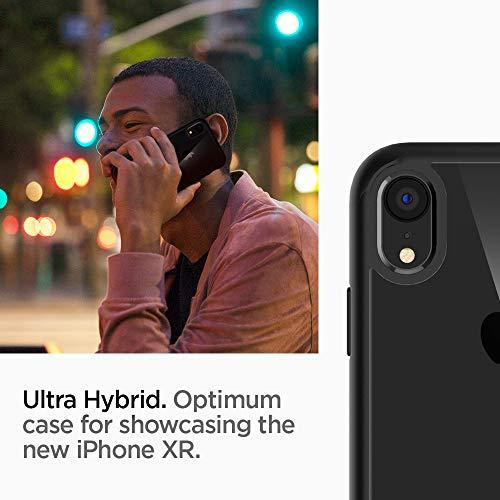Spigen Ultra Hybrid, iPhone XR Hülle, 064CS24874 Einteilige Transparent Handyhülle Durchsichtige PC Rückschale mit Silikon Bumper Schutzhülle Case (Matte Black) - 4
