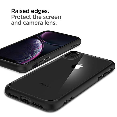 Spigen Ultra Hybrid, iPhone XR Hülle, 064CS24874 Einteilige Transparent Handyhülle Durchsichtige PC Rückschale mit Silikon Bumper Schutzhülle Case (Matte Black) - 5