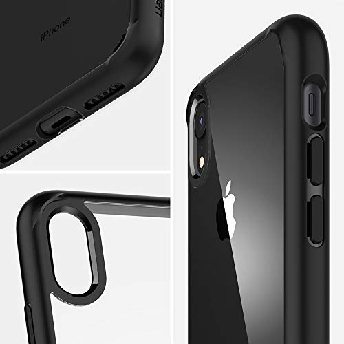 Spigen Ultra Hybrid, iPhone XR Hülle, 064CS24874 Einteilige Transparent Handyhülle Durchsichtige PC Rückschale mit Silikon Bumper Schutzhülle Case (Matte Black) - 6
