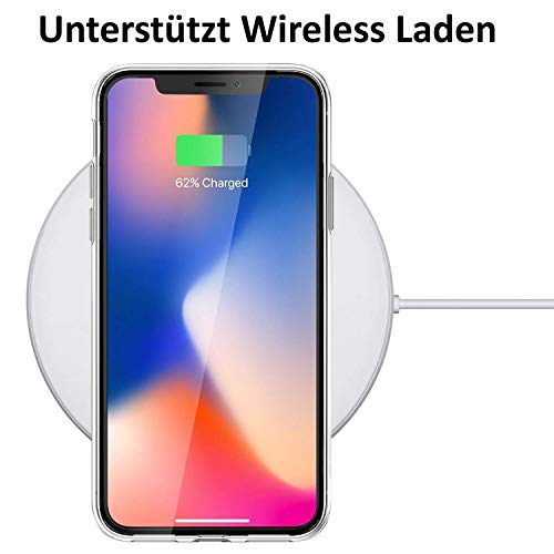 Girlscases® | iPhone XR Hülle | Im Fee Motiv Muster | in schwarz | Fashion Case Transparente Schutzhülle aus Silikon - 4