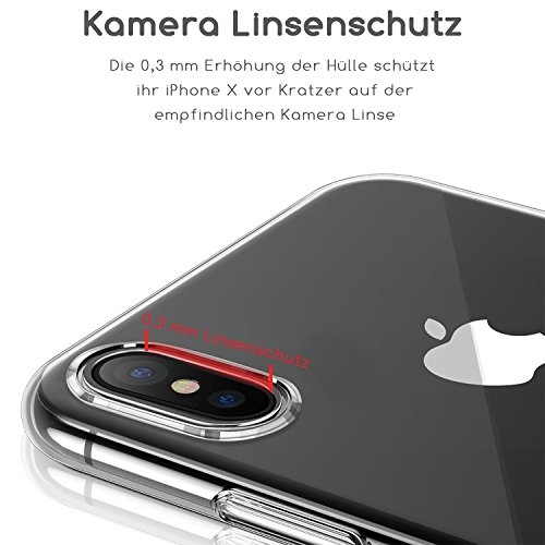 Girlscases® | iPhone XR Hülle | Im Fee Motiv Muster | in schwarz | Fashion Case Transparente Schutzhülle aus Silikon - 5
