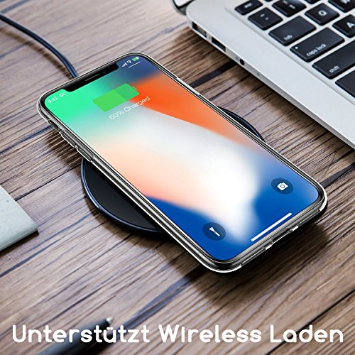 Girlscases® | iPhone XR Hülle | Im Fee Motiv Muster | in schwarz | Fashion Case Transparente Schutzhülle aus Silikon - 6