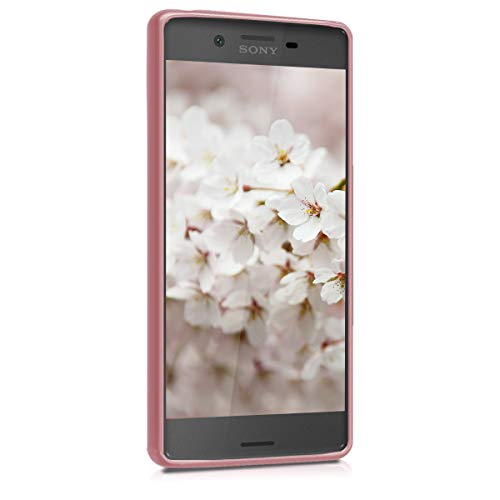 kwmobile Sony Xperia X Hülle - Handyhülle für Sony Xperia X - Handy Case in Metallic Rosegold - 2