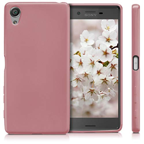 kwmobile Sony Xperia X Hülle - Handyhülle für Sony Xperia X - Handy Case in Metallic Rosegold - 5