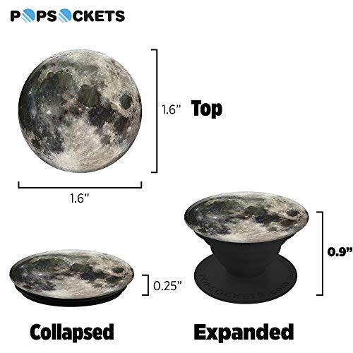 PopSockets: Collapsible Grip & Stand for Phones and Tablets - Moon - 6