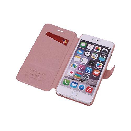 ele ELEOPTION iPhone 7 Case und iPhone 8 Hülle Schutzhülle Leder Hülle mit Standfunktion und Karte Halter (iPhone 7 und iPhone 8, Champagner-Rosa) - 4