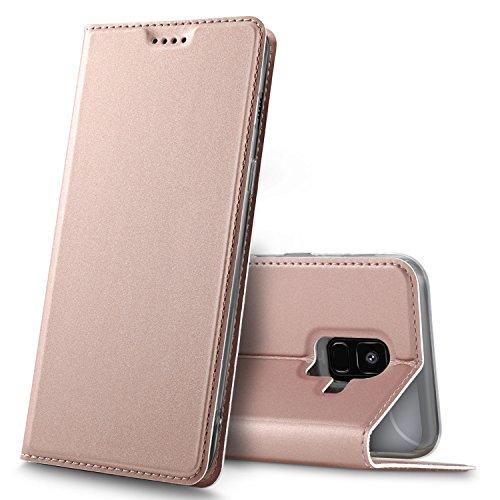 Samsung Galaxy A6 Premium Flip Case, Rosegold