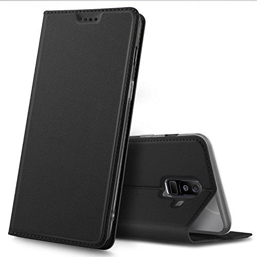 Samsung Galaxy A6 Plus Premium Flip Case, Schwarz