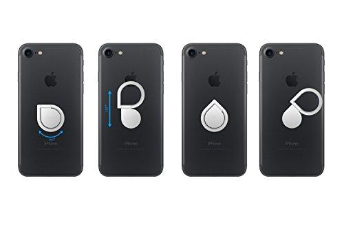 Kronya® | 360° drehbarer Smartphone Fingerhalter | Auto Case Finger Fitness Griff Halter Halterung Handy Hülle Ring Ringhalter Sport Ständer Tablet Apple iPhone iPad Samsung Galaxy 1 (Schwarz) - 6