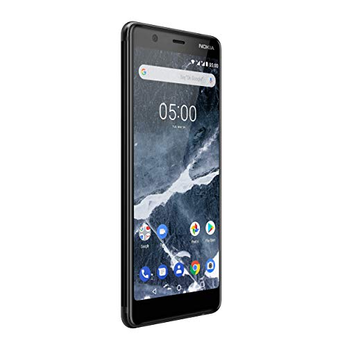 Nokia 5.1 Version 2018 Smartphone (13,97 cm (5,5 Zoll) HD+ Dislplay, 16GB, 2GB RAM, 16MP Kamera, langlebiger Vollalurahmen, Android Oreo, Dual SIM, Amazon Edition inkl. Displayschutzfolie) schwarz - 4
