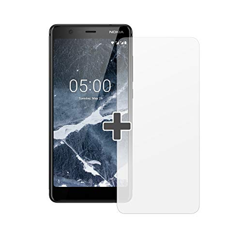 Nokia 5.1 Version 2018 Smartphone (13,97 cm (5,5 Zoll) HD+ Dislplay, 16GB, 2GB RAM, 16MP Kamera, langlebiger Vollalurahmen, Android Oreo, Dual SIM, Amazon Edition inkl. Displayschutzfolie) schwarz - 5